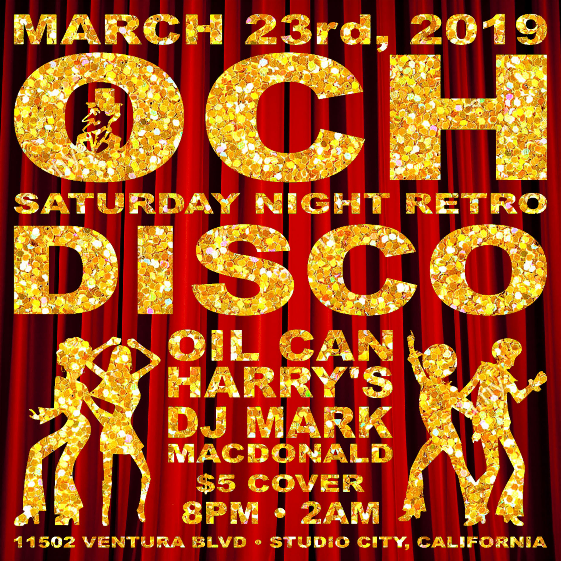 Oil Can Harry's Hosts DJ MARK MACDONALD from Las Vegas for RETRO DISCO: Saturday, March 23, 2019! 8:00 PM to 2:00 AM! $5.00 Cover.
