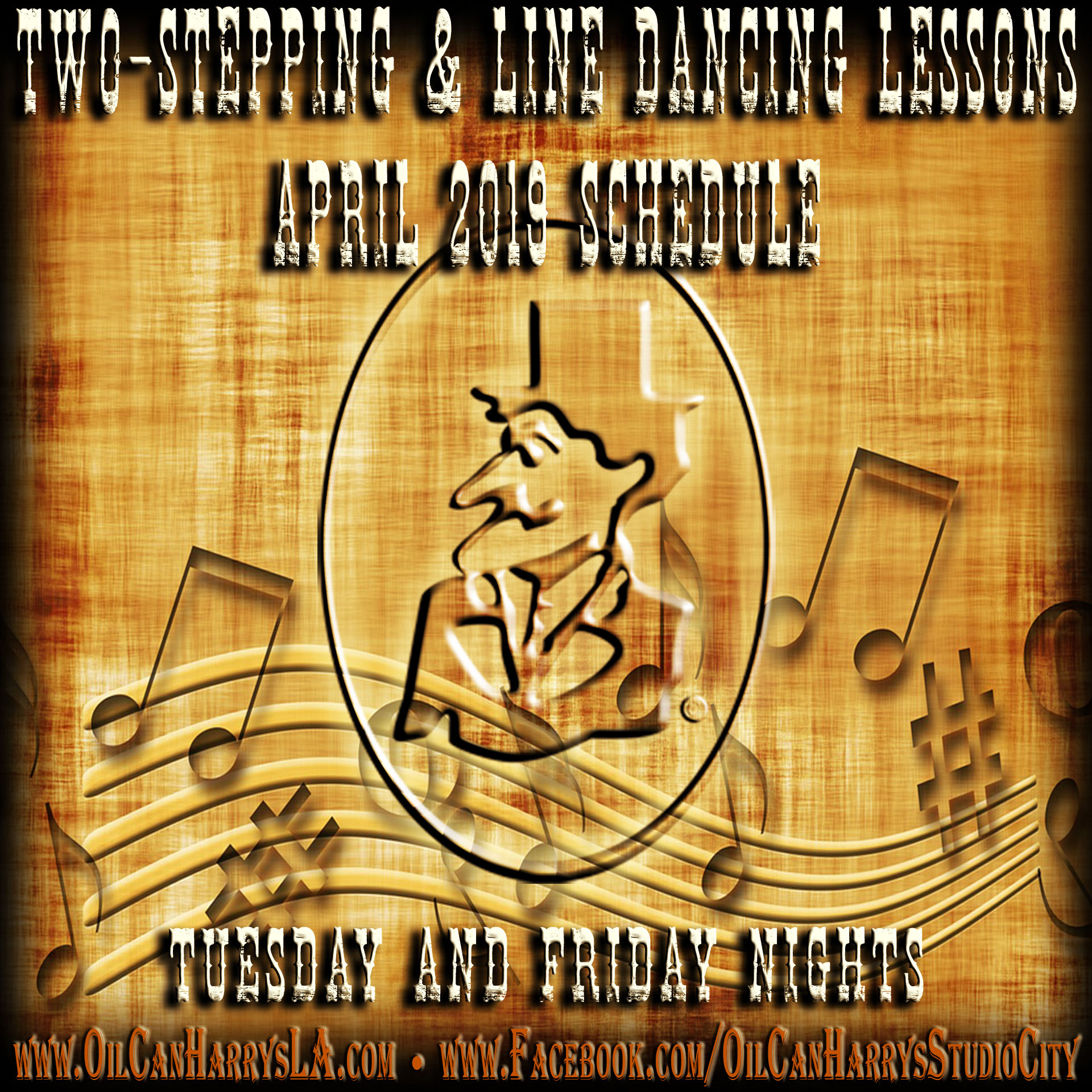 OIL CAN HARRY'S COUNTRY DANCING LESSONS: Tuesday and Friday Nights!