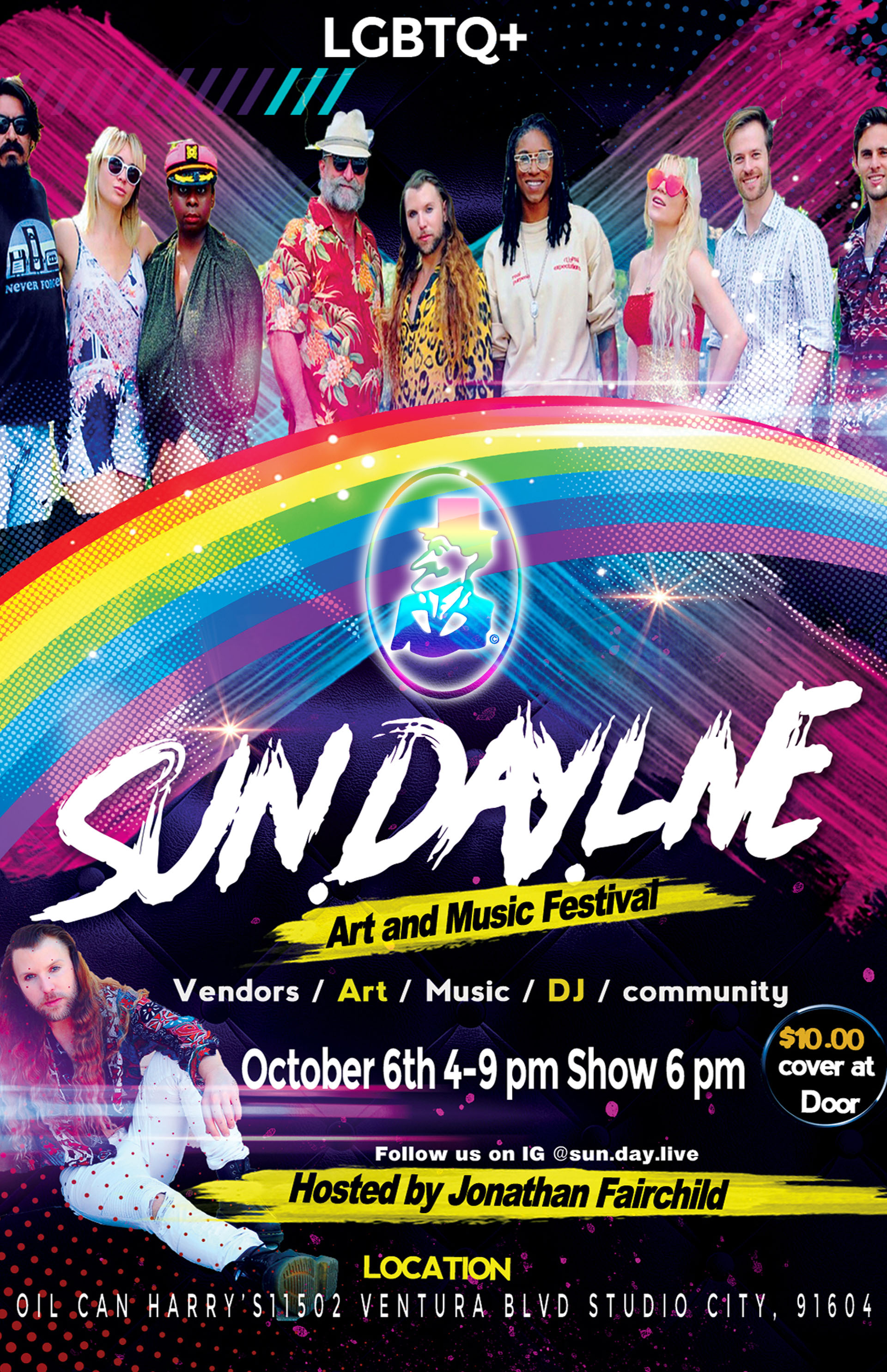 Oil Can Harry's Presents an LGBTQ+ ART & MUSIC FESTIVAL: Sunday, October 6, 2019, 4-9 PM. Live show starts at 6 PM. $10 at the door.