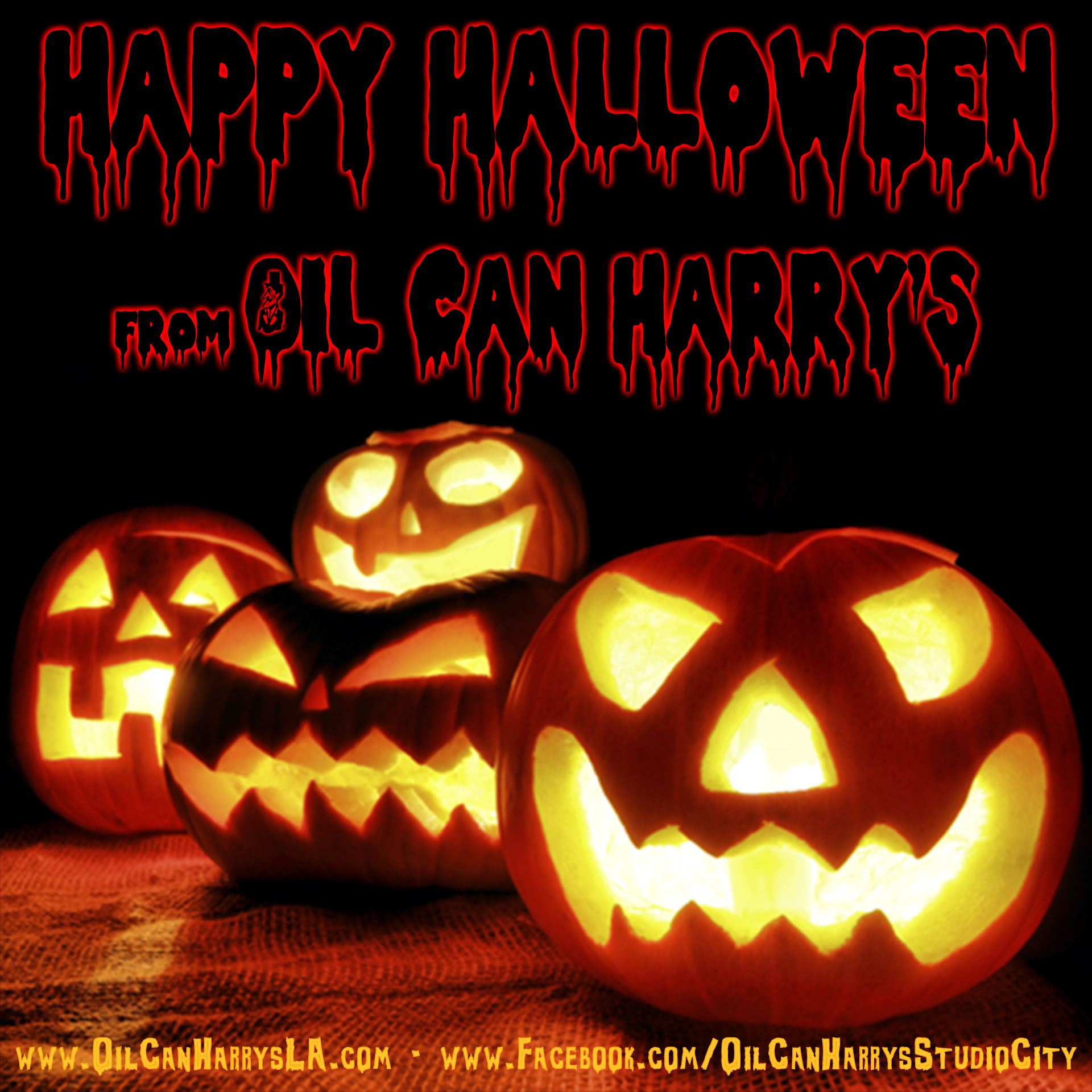Happy Halloween from The Staff of Oil Can Harry's!
